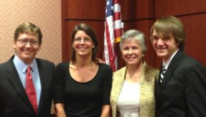 Photo of Sharon Terry and other in the US Capitol